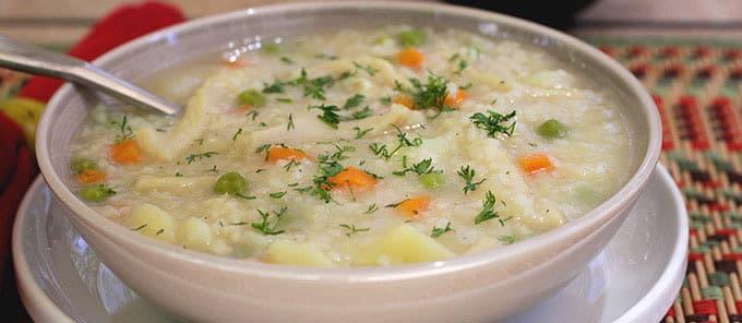 Sopa de Arroz www.antojandoando.com